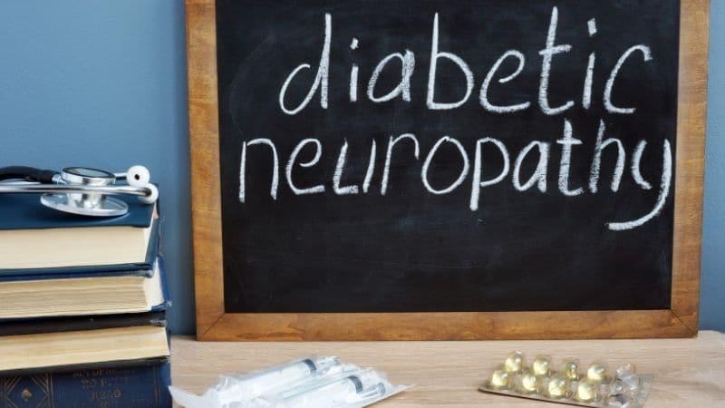 words diabetic neuropath written on chalkboard